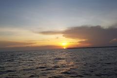 Západ slunce z trajektu